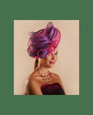 Chapeau de mariage Dejean Violet